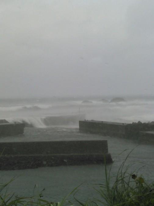 堤防を越える波2