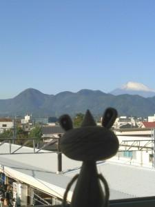 富士山とカエルくん