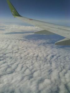 飛行機行き