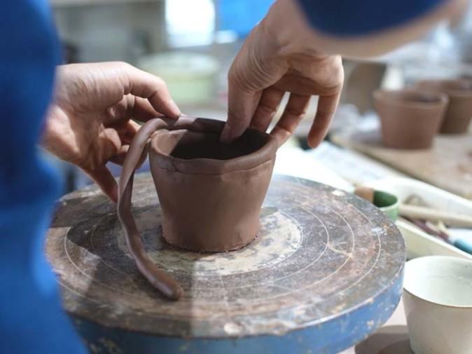 屋久島で陶芸体験♪